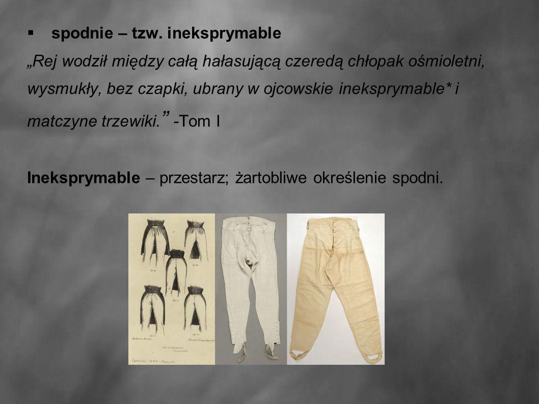  spodnie – tzw.
