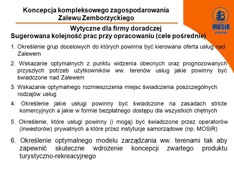 FGFGFDDFGDFGDFGDFGFF Koncepcja kompleksowego zagospodarowania Zalewu Zemborzyckiego Wytyczne dla firmy doradczej Sugerowana kolejność prac przy opracowaniu (cele pośrednie) 1.
