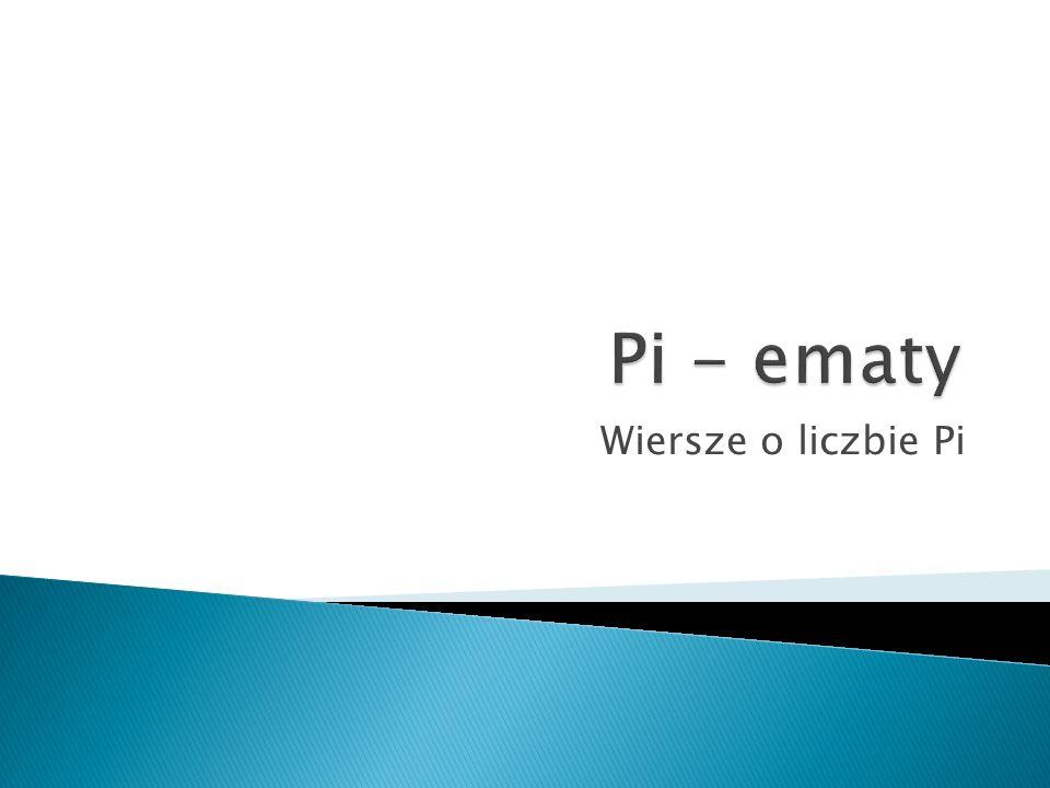 Wiersze o liczbie Pi