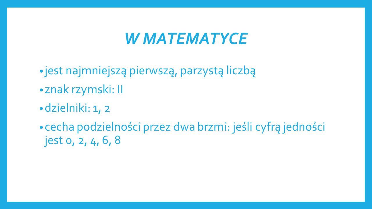 W MATEMATYCE liczba złożona dzielniki: 1, 3, 9 znak rzymski: IX cecha podzielności brzmi: jeśli suma cyfr jest podzielna przez dziewięć to ta liczba również jest podzielna przez dziewięć