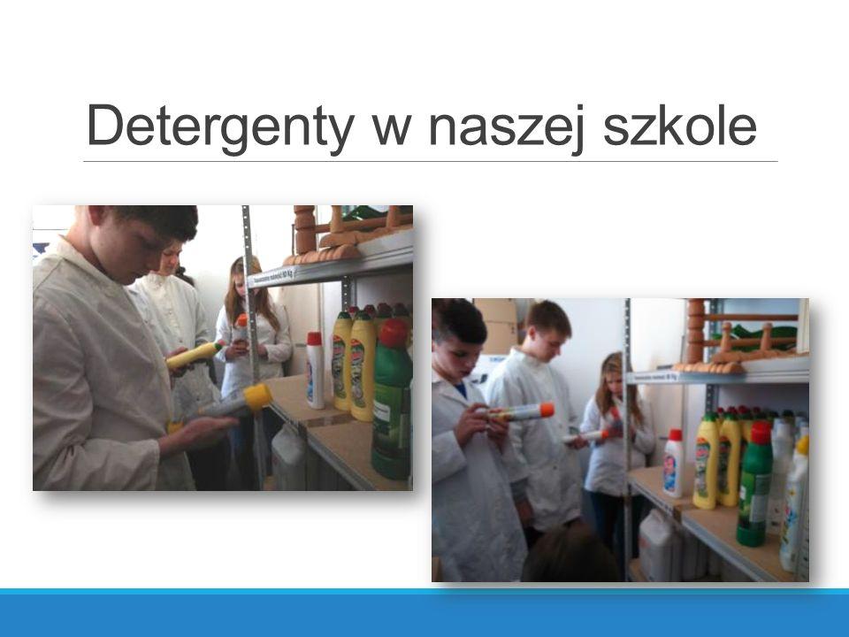 Detergenty w naszej szkole