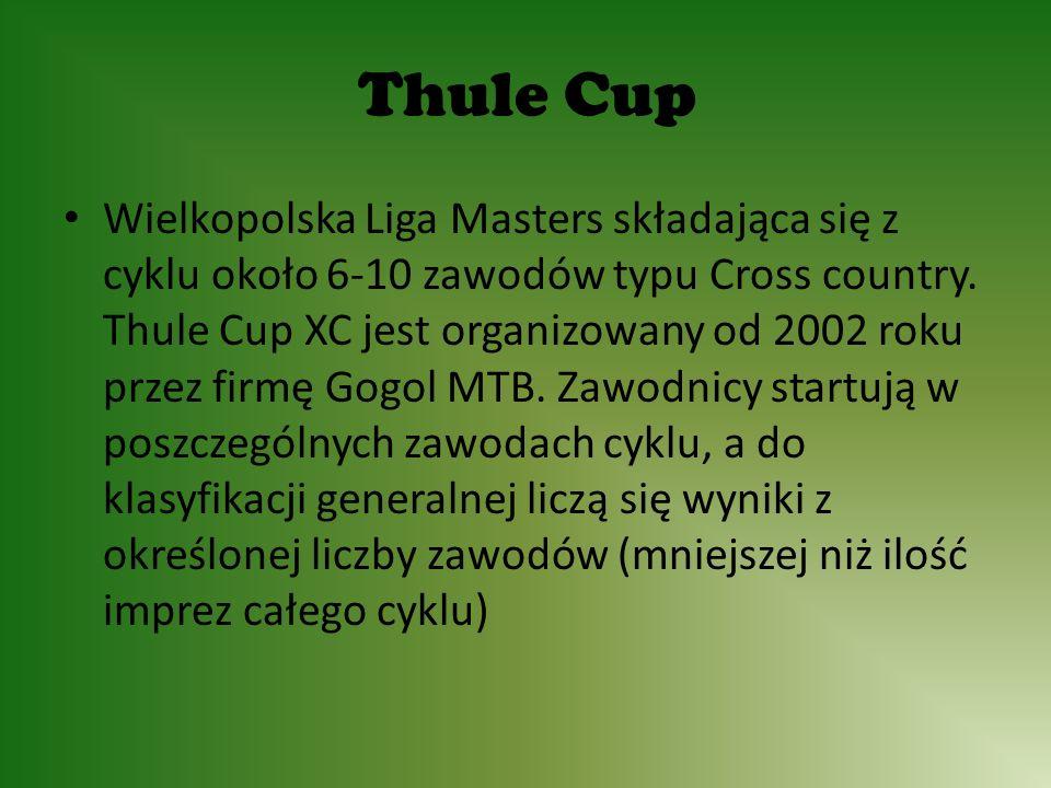 Thule Cup Wielkopolska Liga Masters składająca się z cyklu około 6-10 zawodów typu Cross country.