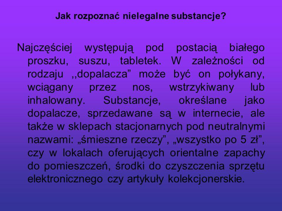 Jak rozpoznać nielegalne substancje.
