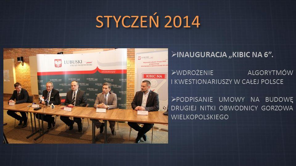 """STYCZEŃ 2014  INAUGURACJA """"KIBIC NA 6 ."""