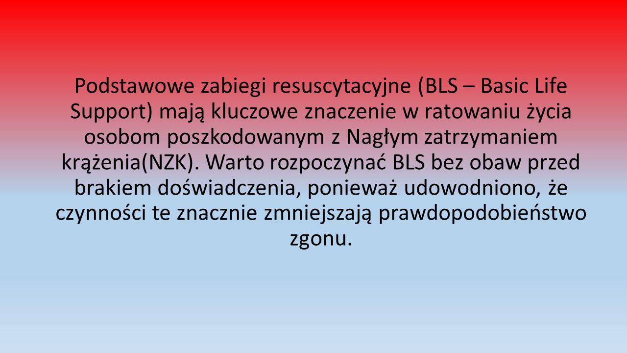Podstawowe zabiegi resuscytacyjne (BLS – Basic Life Support) mają kluczowe znaczenie w ratowaniu życia osobom poszkodowanym z Nagłym zatrzymaniem krążenia(NZK).