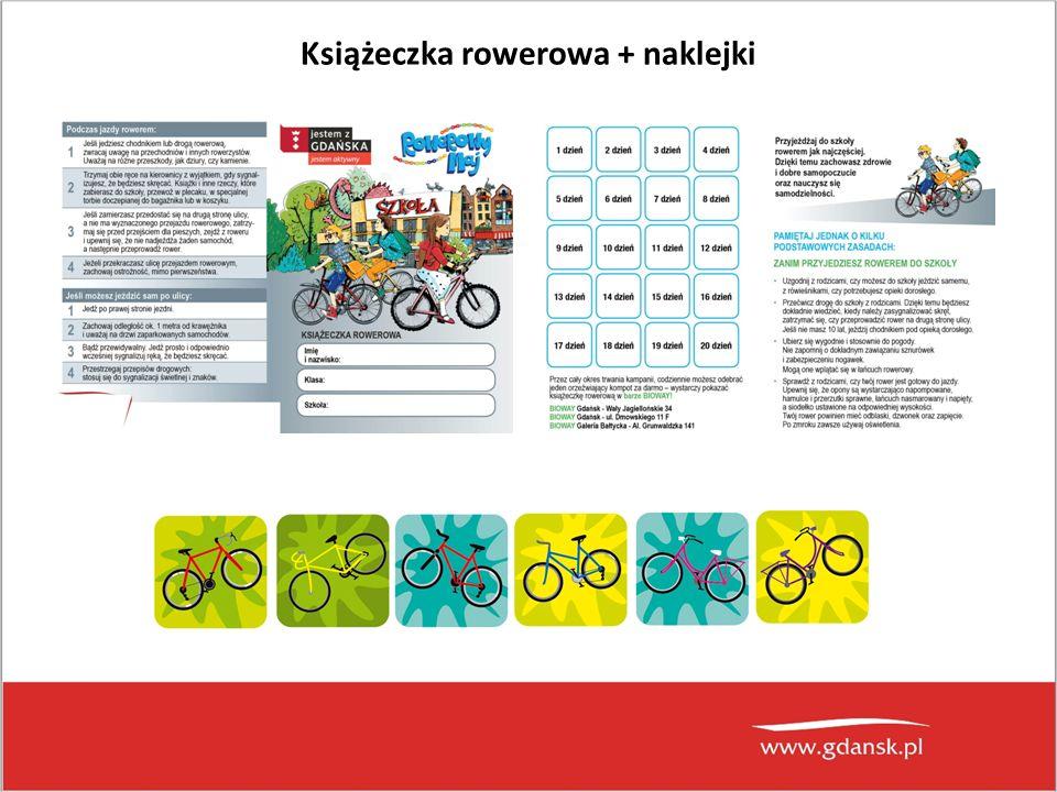 Książeczka rowerowa + naklejki