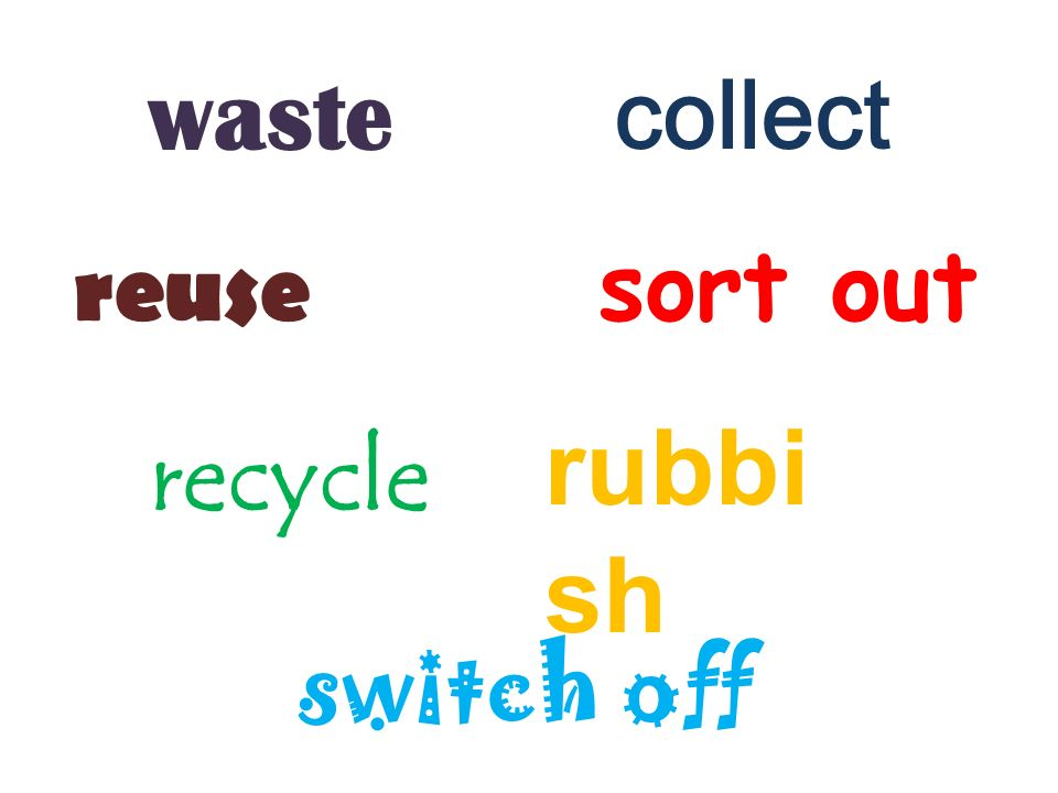I can reduce I can recycle I can reuse
