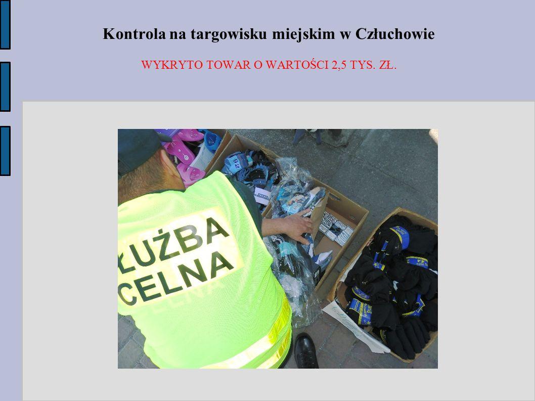 Kontrola na targowisku miejskim w Człuchowie WYKRYTO TOWAR O WARTOŚCI 2,5 TYS. ZŁ.