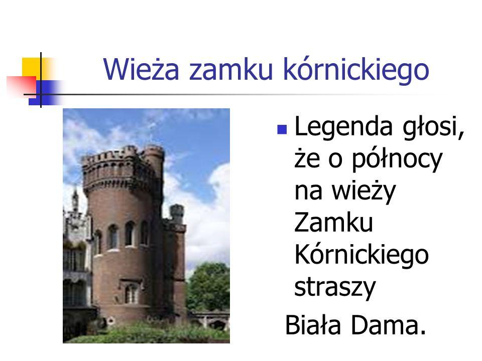 Wieża zamku kórnickiego Legenda głosi, że o północy na wieży Zamku Kórnickiego straszy Biała Dama.