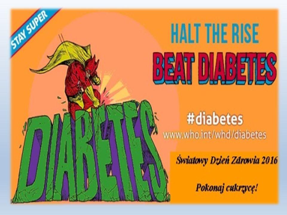 Powikłania w cukrzycy Główną przyczyną przewlekłych powikłań będących wynikiem cukrzycy jest długotrwale utrzymujący się zbyt wysoki poziom glukozy we krwi.