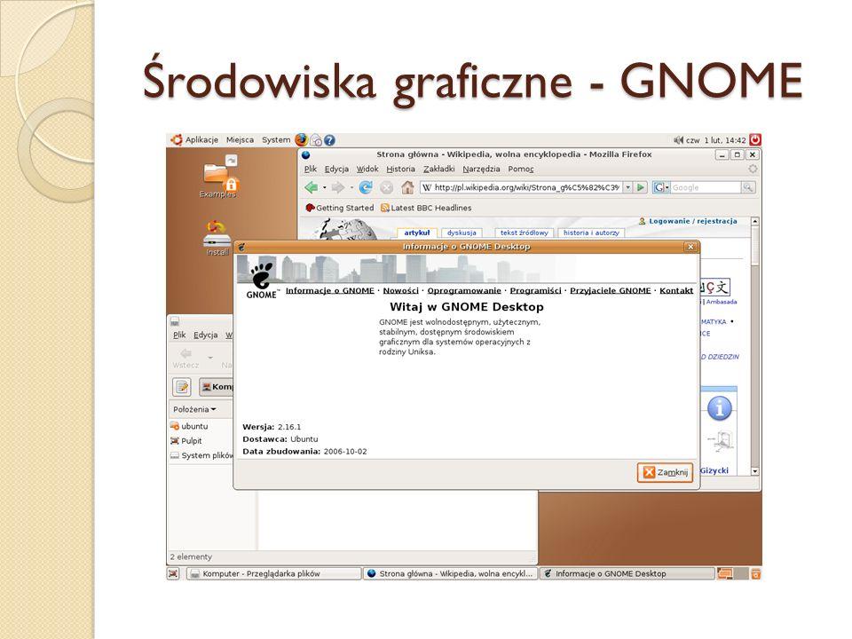 Środowiska graficzne - GNOME