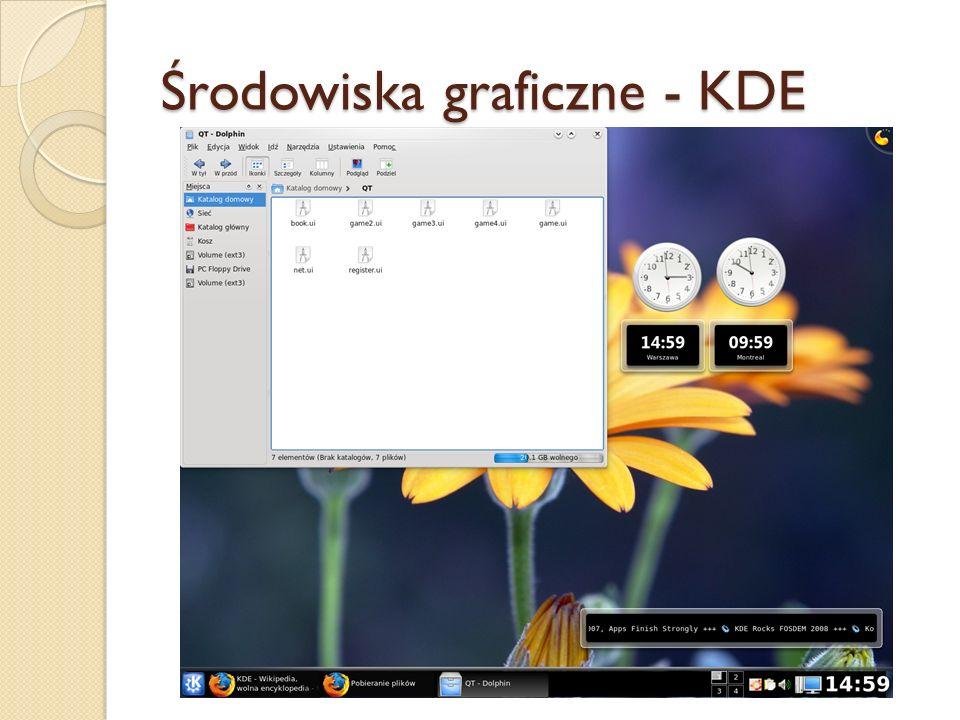 Środowiska graficzne - KDE