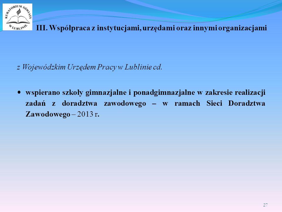z Wojewódzkim Urzędem Pracy w Lublinie cd.