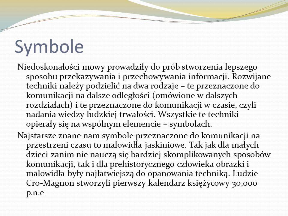 Symbole Niedoskonałości mowy prowadziły do prób stworzenia lepszego sposobu przekazywania i przechowywania informacji.