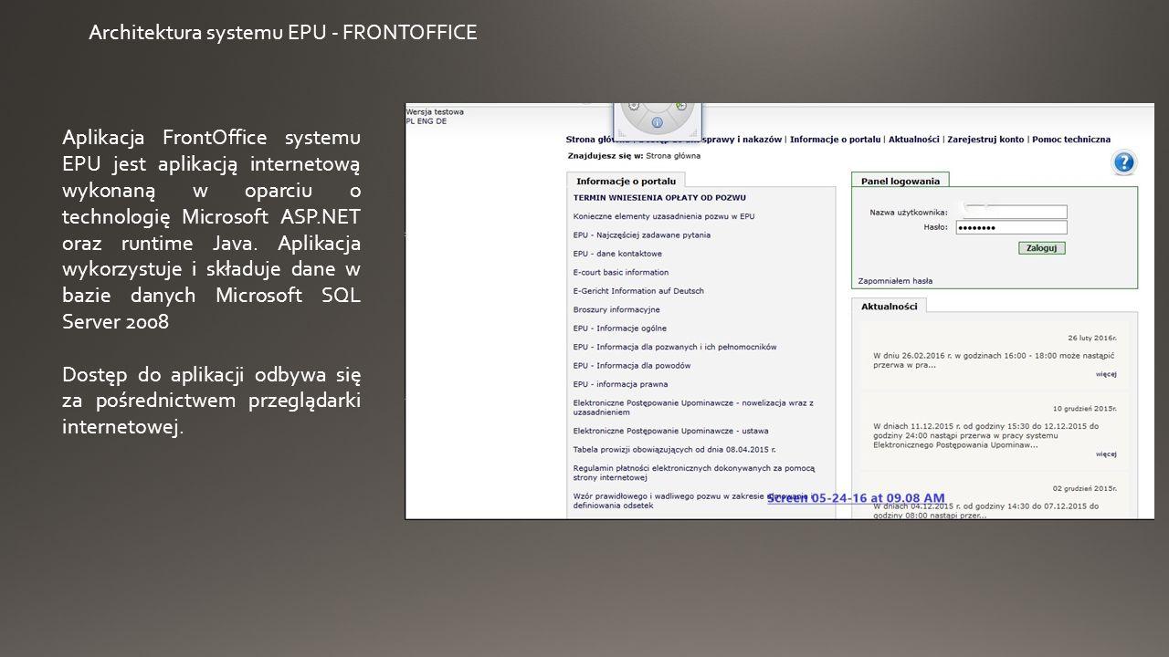 FRONTOFFICE – konto o profilu podstawowym