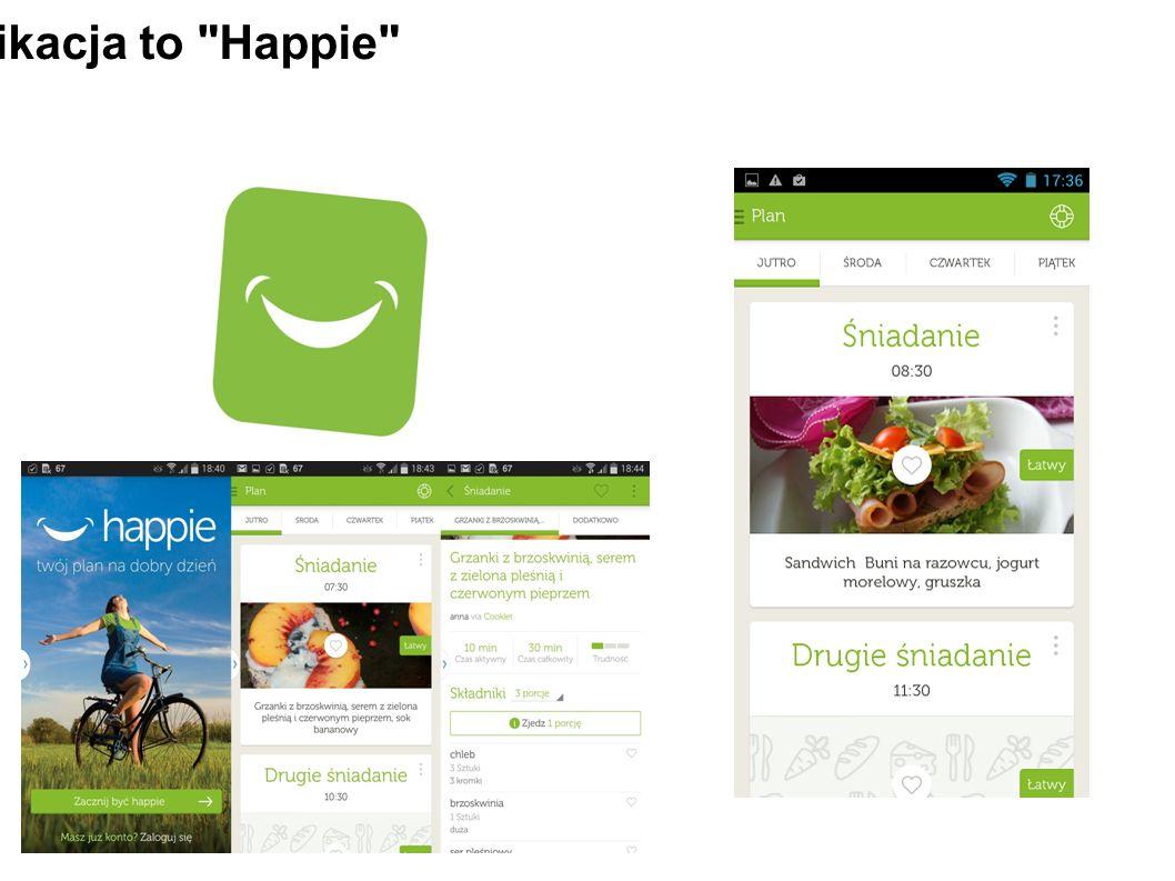 Pierwsza aplikacja to Happie