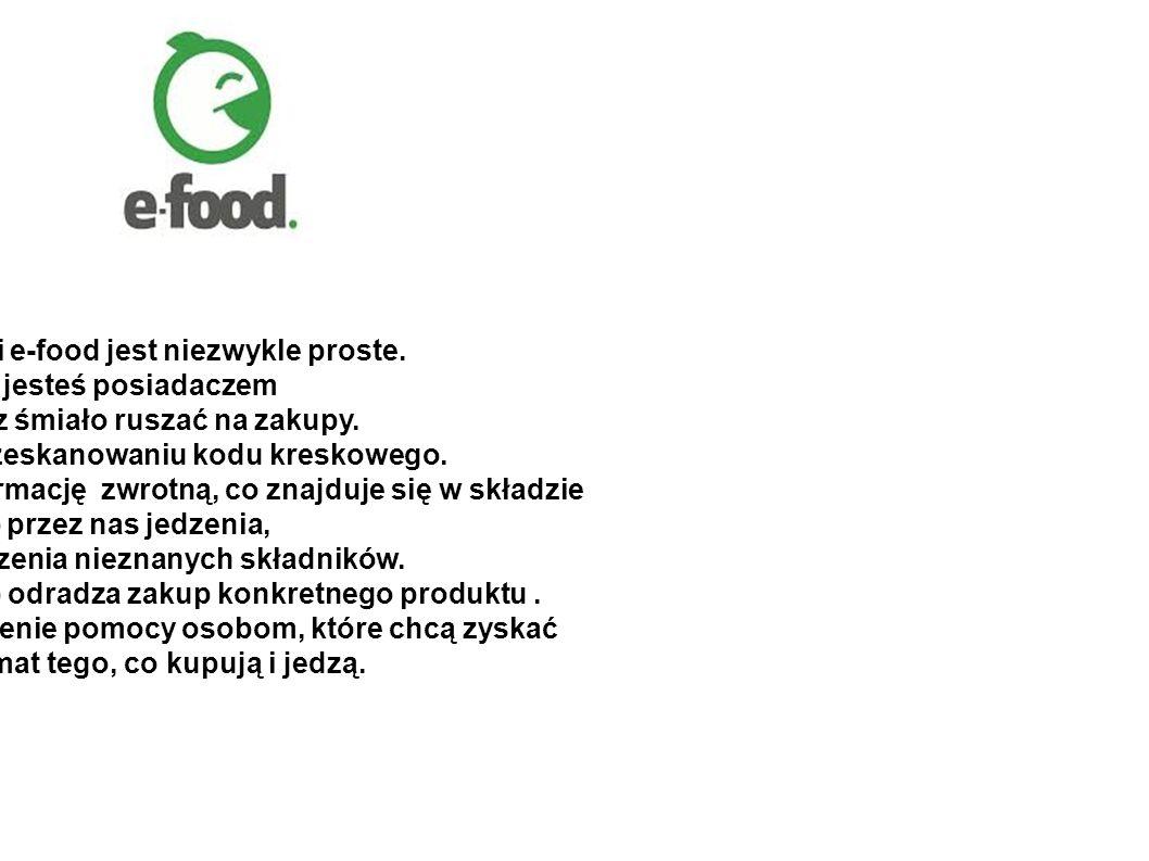 Korzystanie z aplikacji e-food jest niezwykle proste.