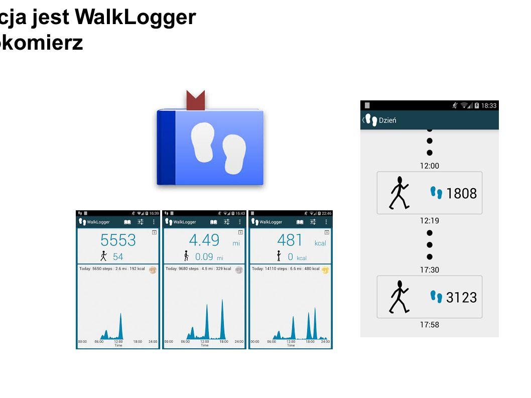 Trzecią aplikacja jest WalkLogger krokomierz