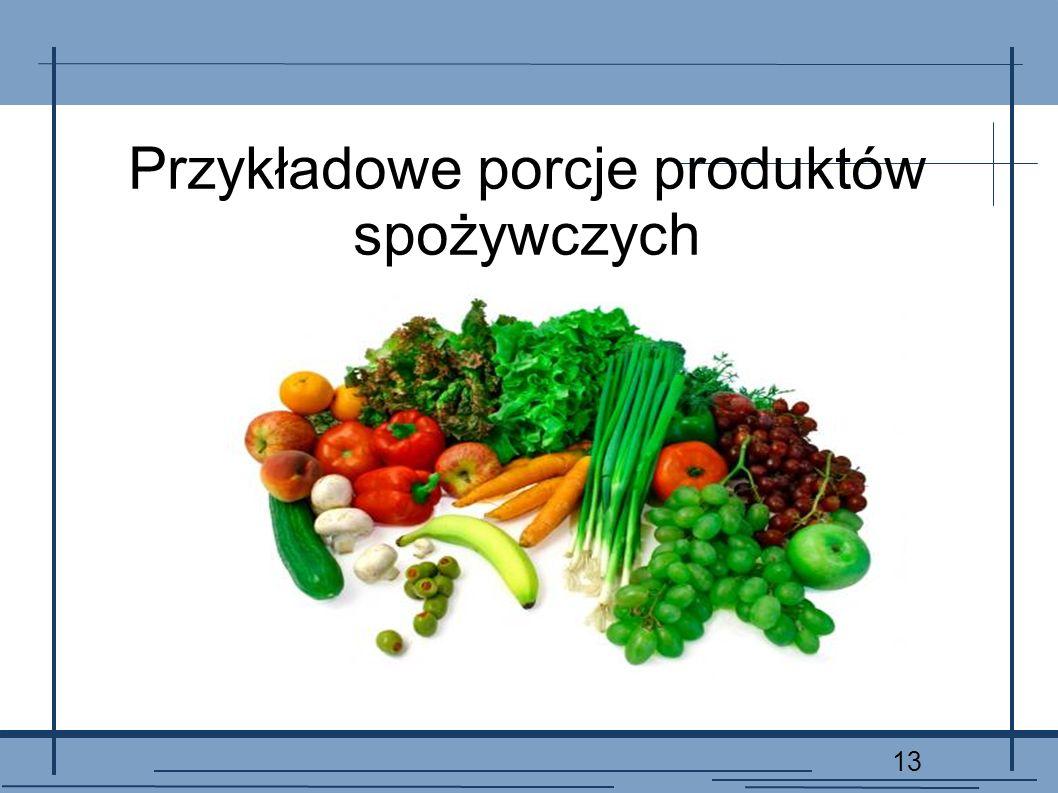 13 Przykładowe porcje produktów spożywczych