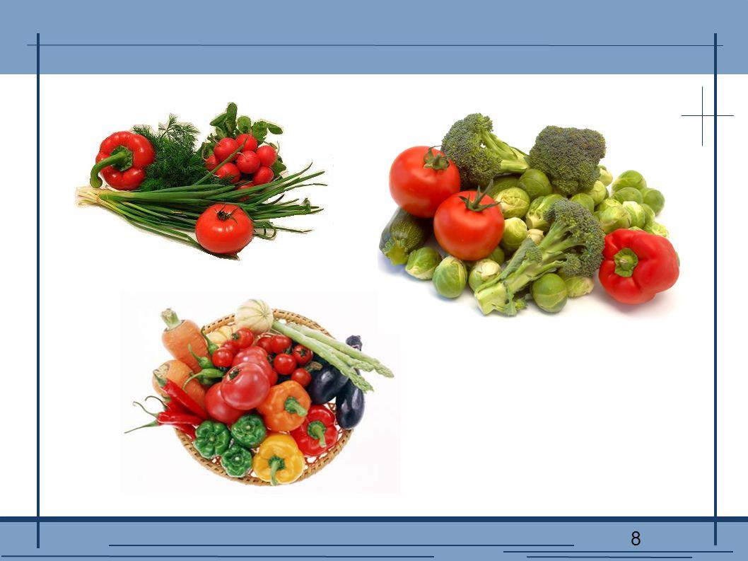 9 OWOCE Owoce są bardziej kaloryczne, niż warzywa (bo zawierają więcej węglowodanów), ale również powinniśmy jeść je codziennie.