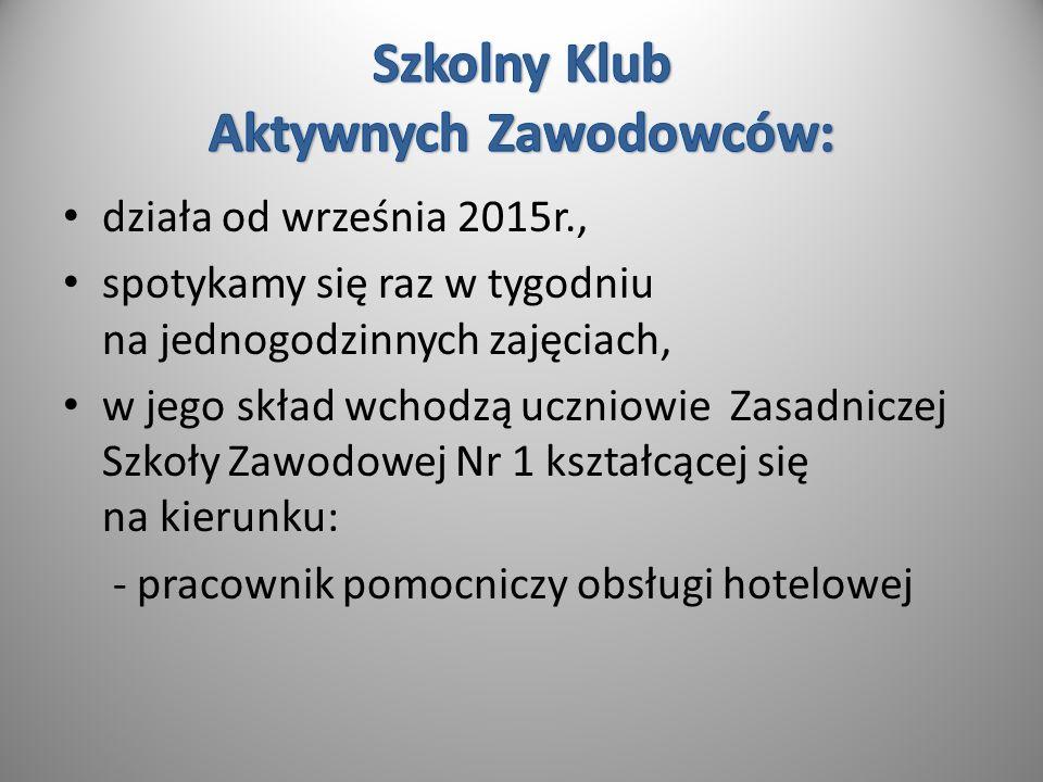 Działania podejmowane w ramach funkcjonowania KLUBU: Rozwijanie zainteresowań: - kulinarnych