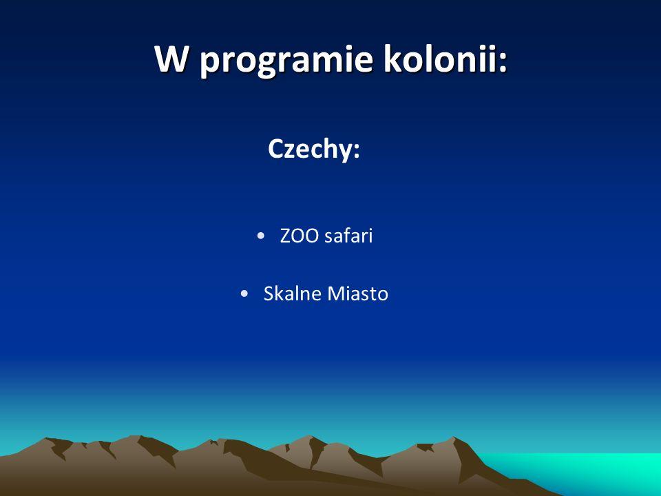 W programie kolonii: Czechy: ZOO safari Skalne Miasto
