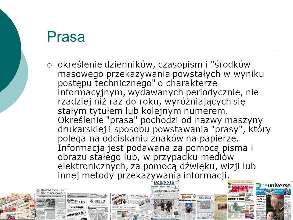 Prasa  określenie dzienników, czasopism i