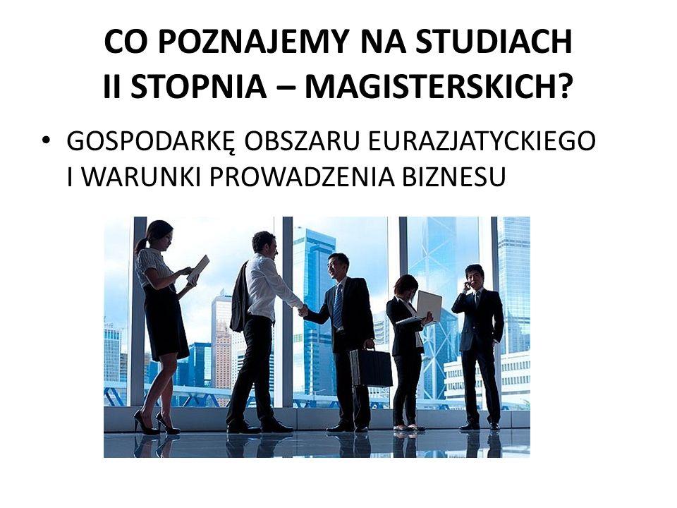 CO POZNAJEMY NA STUDIACH II STOPNIA – MAGISTERSKICH.