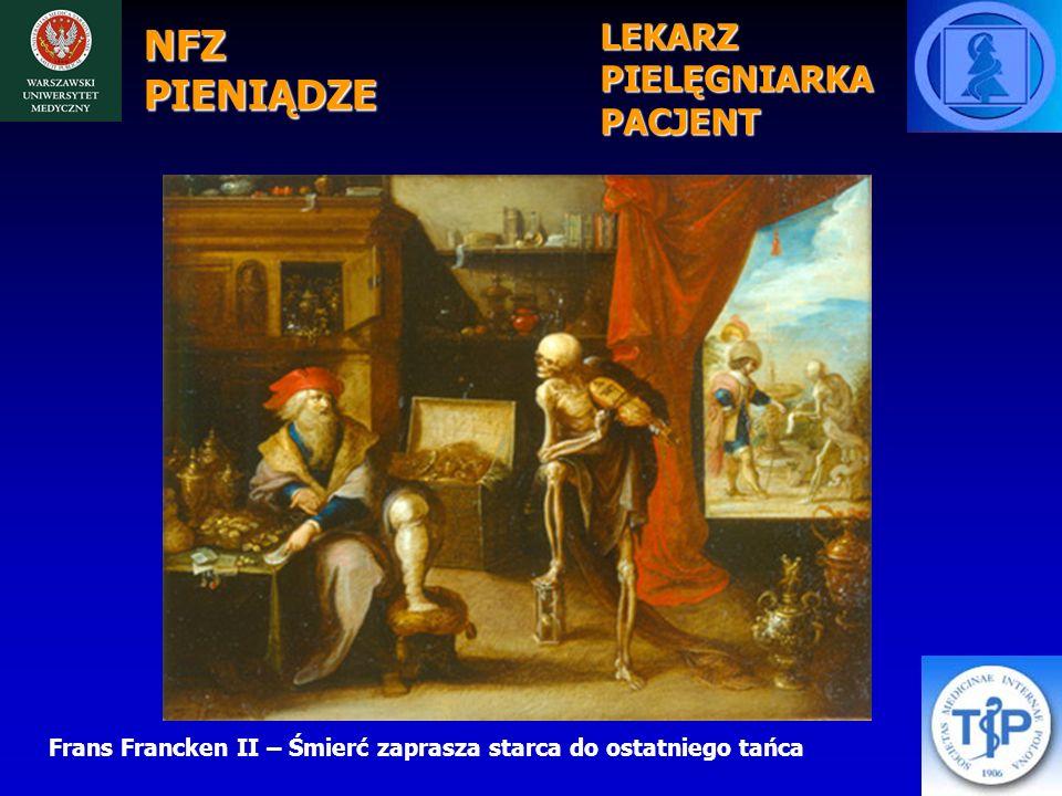 NFZ PIENIĄDZE Frans Francken II – Śmierć zaprasza starca do ostatniego tańca LEKARZPIELĘGNIARKAPACJENT