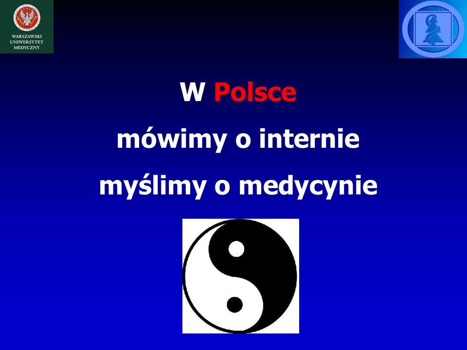 W Polsce mówimy o internie myślimy o medycynie