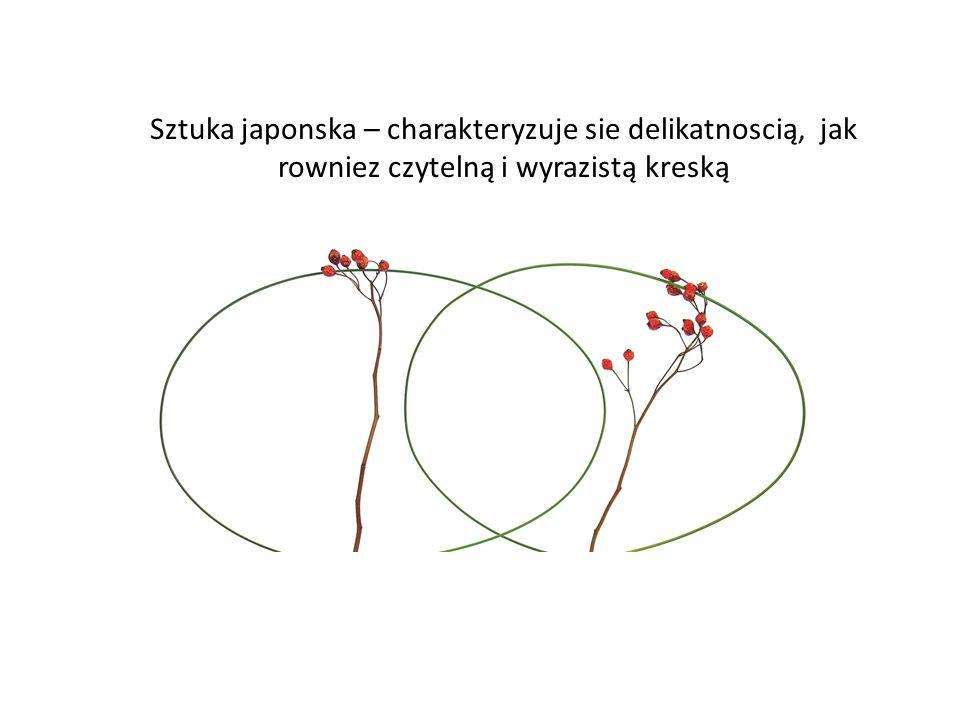 Sztuka japonska – charakteryzuje sie delikatnoscią, jak rowniez czytelną i wyrazistą kreską
