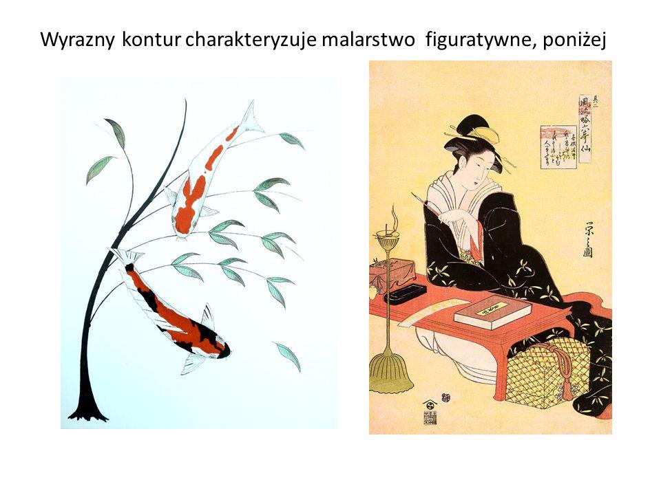 Wyrazny kontur charakteryzuje malarstwo figuratywne, poniżej