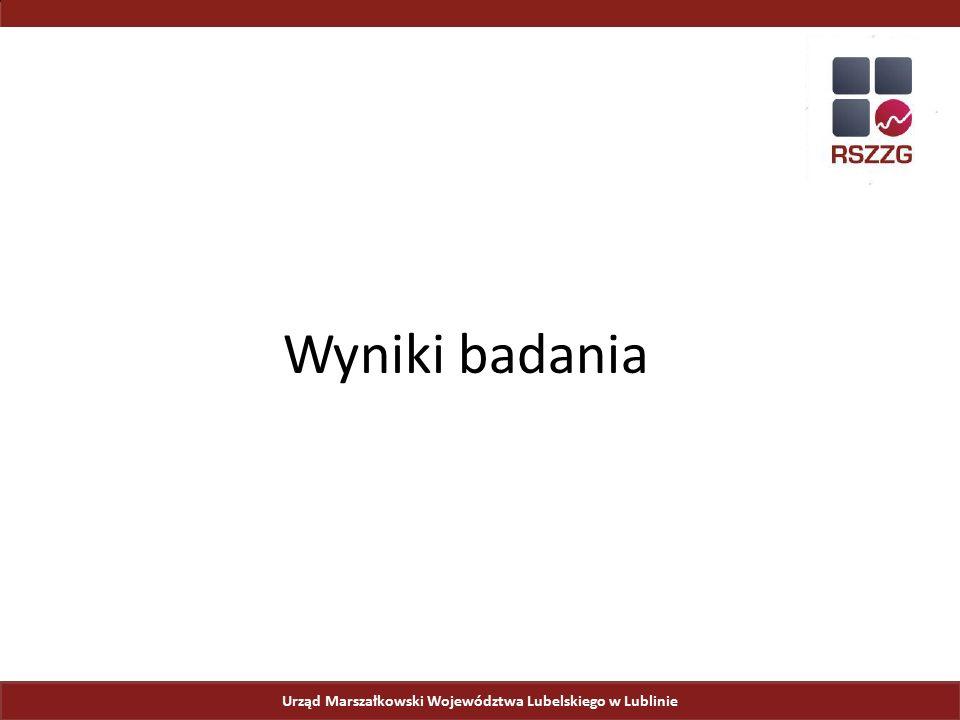 Wyniki badania Urząd Marszałkowski Województwa Lubelskiego w Lublinie