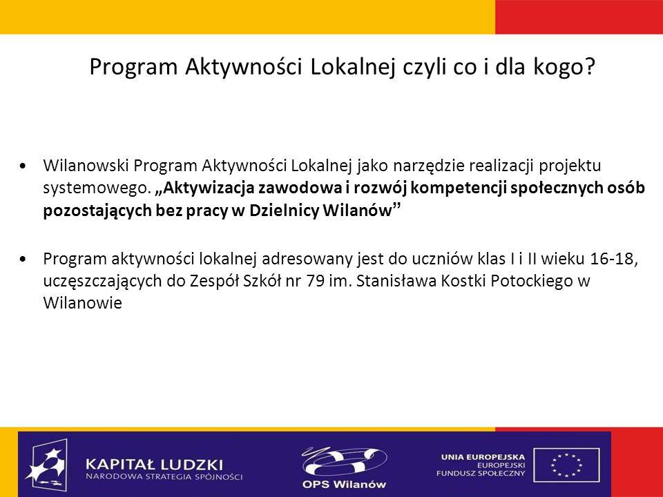 Program Aktywności Lokalnej czyli co i dla kogo.