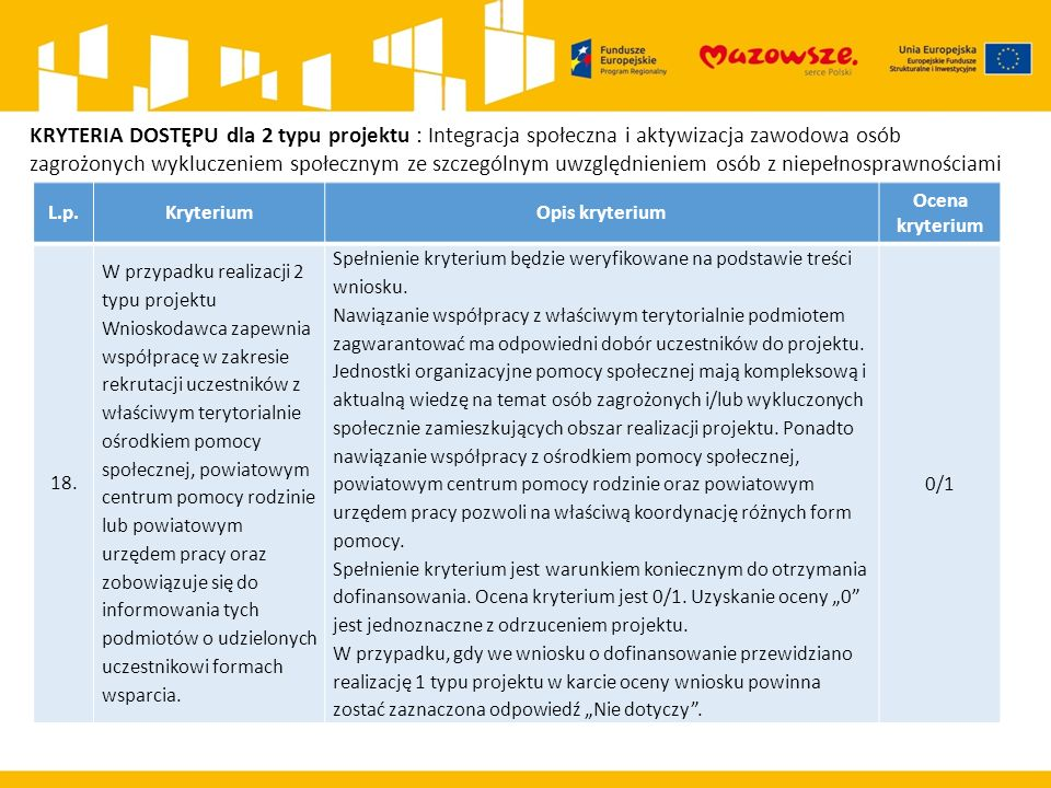 L.p.KryteriumOpis kryterium Ocena kryterium 18.