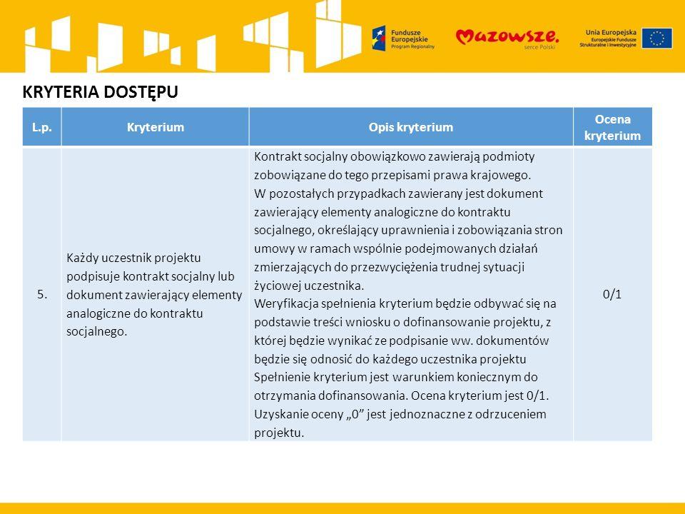 L.p.KryteriumOpis kryterium Ocena kryterium 16.