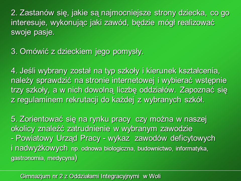 Gimnazjum nr 2 z Oddziałami Integracyjnymi w Woli 6.