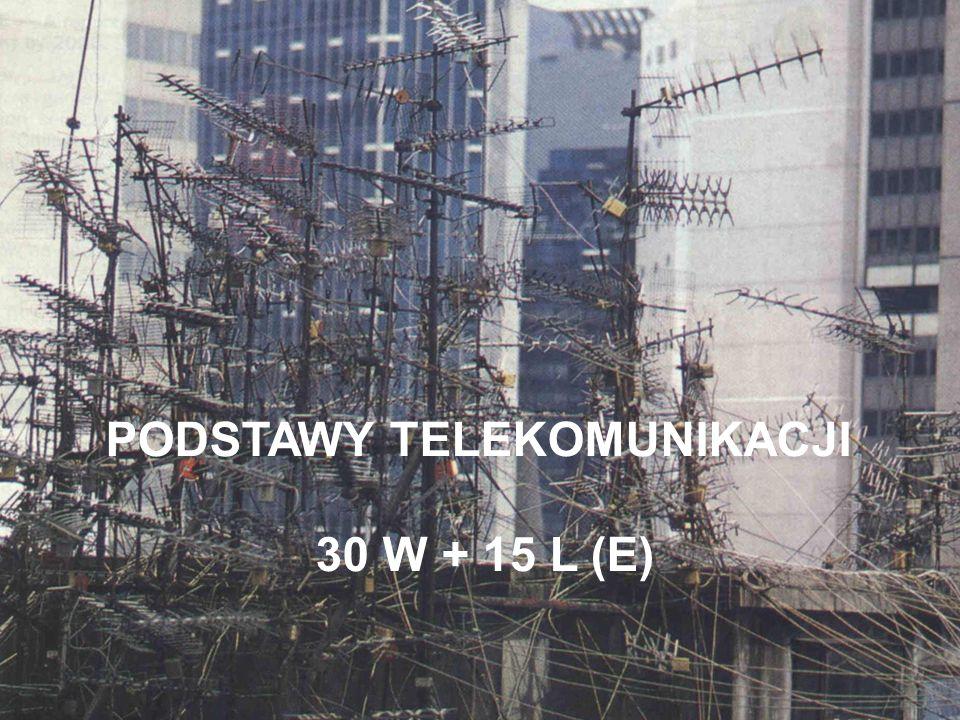 PROGRAM WYKŁADU Istota telekomunikacji.Informacja w telekomunikacji.