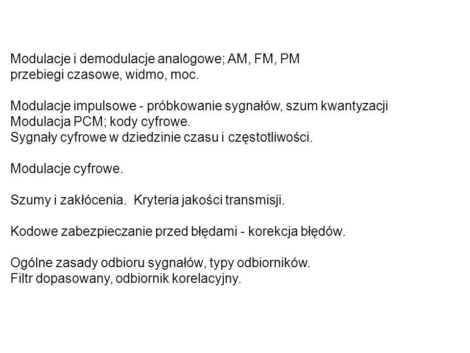 LITERATURA Gotfryd M.: Podstawy telekomunikacji.