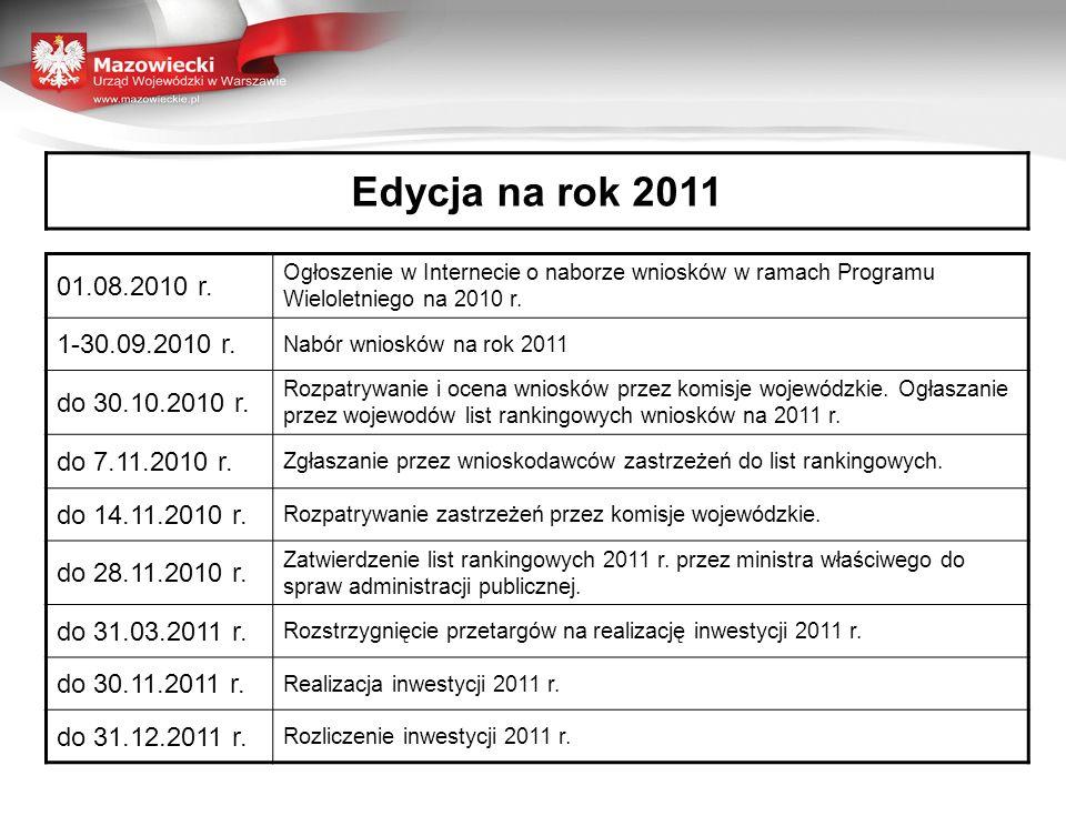 Edycja na rok 2011 01.08.2010 r.