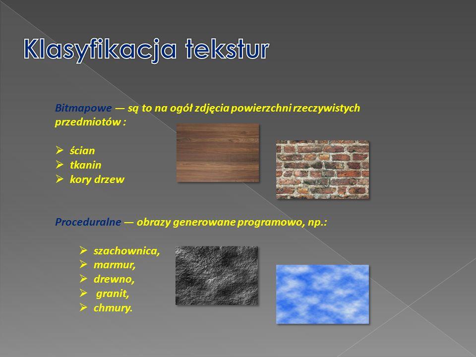 To proces nakładania na względnie obiekty trójwymiarowe obrazów (tekstur).