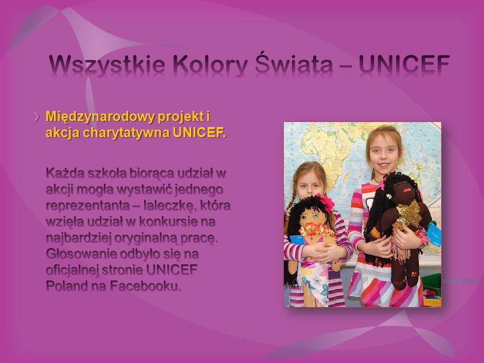 Międzynarodowy projekt i akcja charytatywna UNICEF.