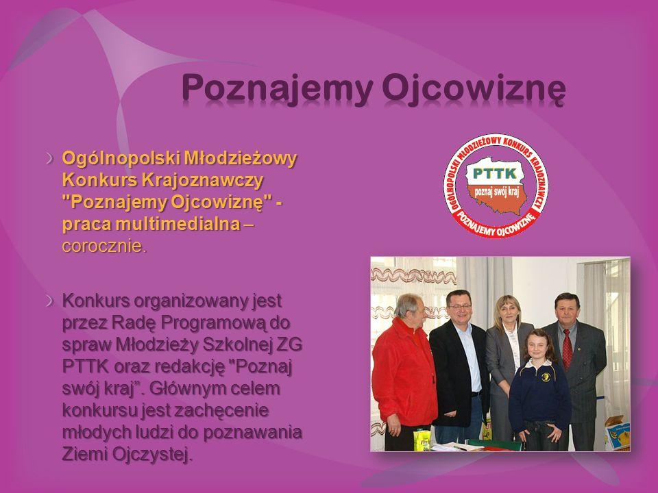 Ogólnopolski Młodzieżowy Konkurs Krajoznawczy Poznajemy Ojcowiznę - praca multimedialna – corocznie.