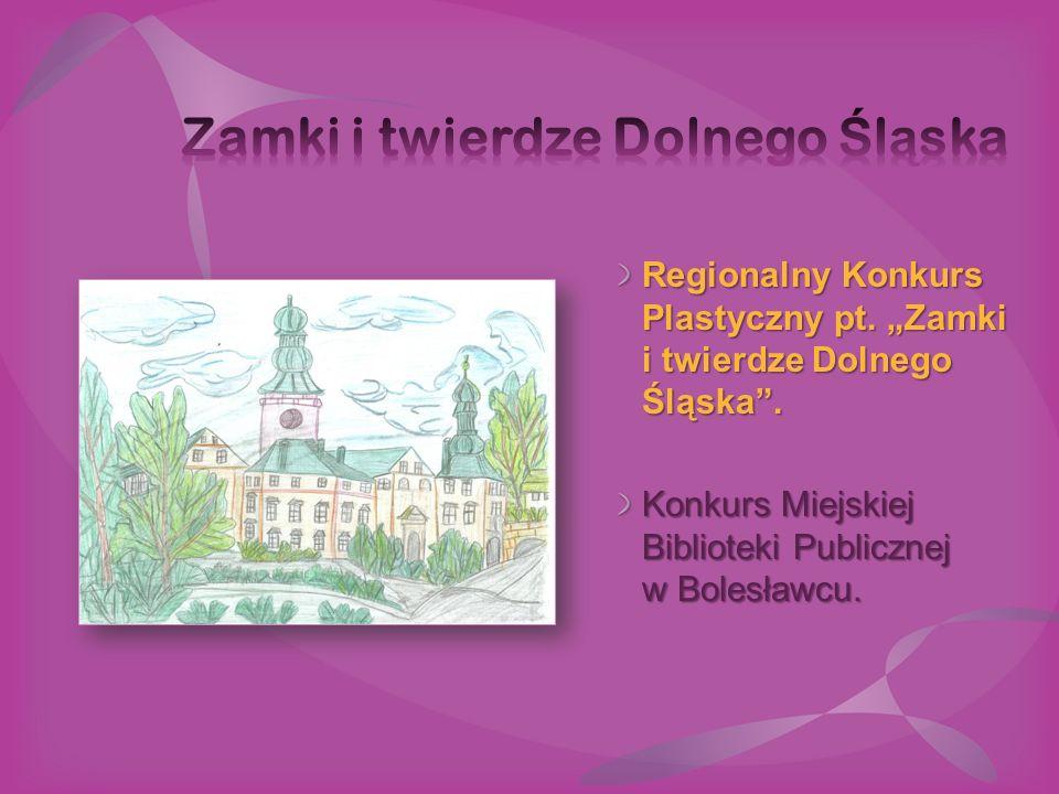 """Regionalny Konkurs Plastyczny pt. """"Zamki i twierdze Dolnego Śląska"""". Konkurs Miejskiej Biblioteki Publicznej w Bolesławcu."""
