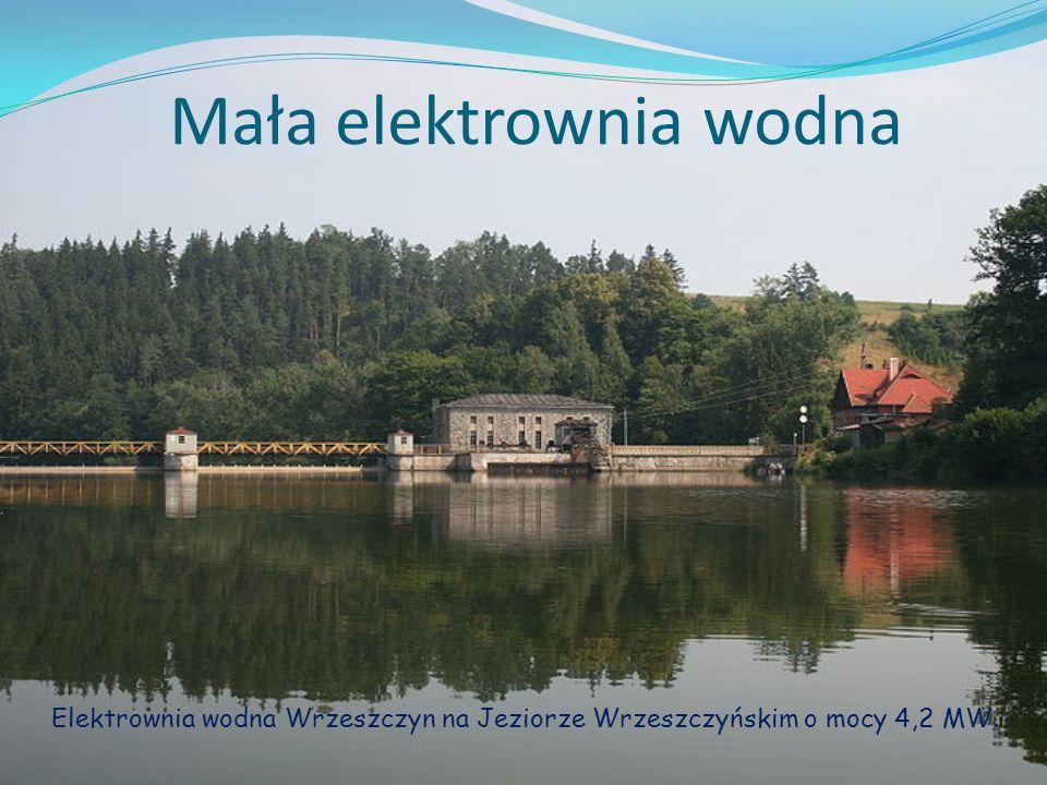 Mała elektrownia wodna Elektrownia wodna Wrzeszczyn na Jeziorze Wrzeszczyńskim o mocy 4,2 MW.