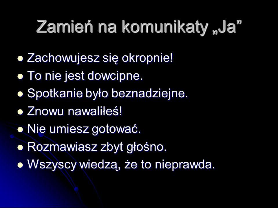 Płaszczyzny komunikatu Rzeczowa (co chcę powiedzieć swojemu rozmówcy.