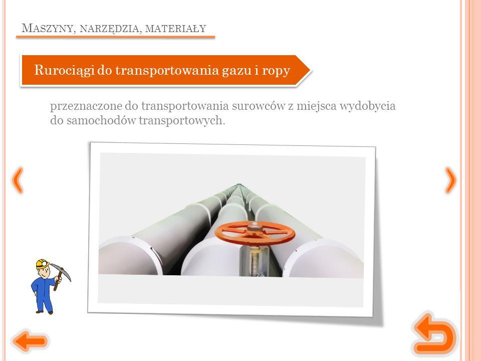 M ASZYNY, NARZĘDZIA, MATERIAŁY przeznaczone do transportowania surowców z miejsca wydobycia do samochodów transportowych.