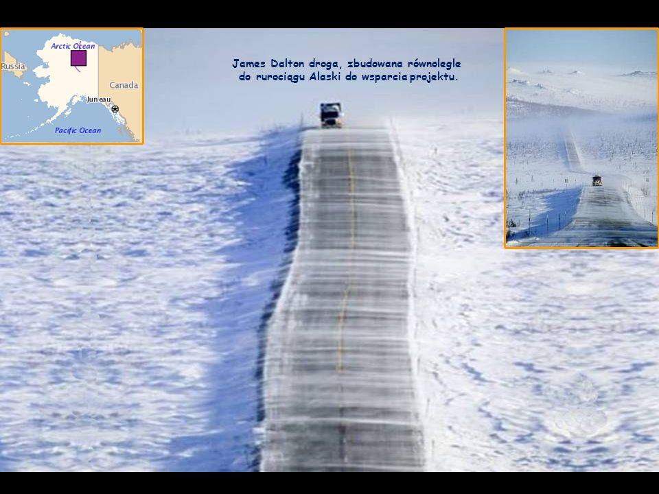 James Dalton droga, zbudowana równolegle do rurociągu Alaski do wsparcia projektu.