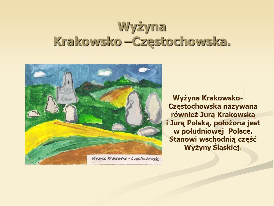 Wyżyna Krakowsko –Częstochowska. Wyżyna Krakowsko- Częstochowska nazywana również Jurą Krakowską i Jurą Polską, położona jest w południowej Polsce. St