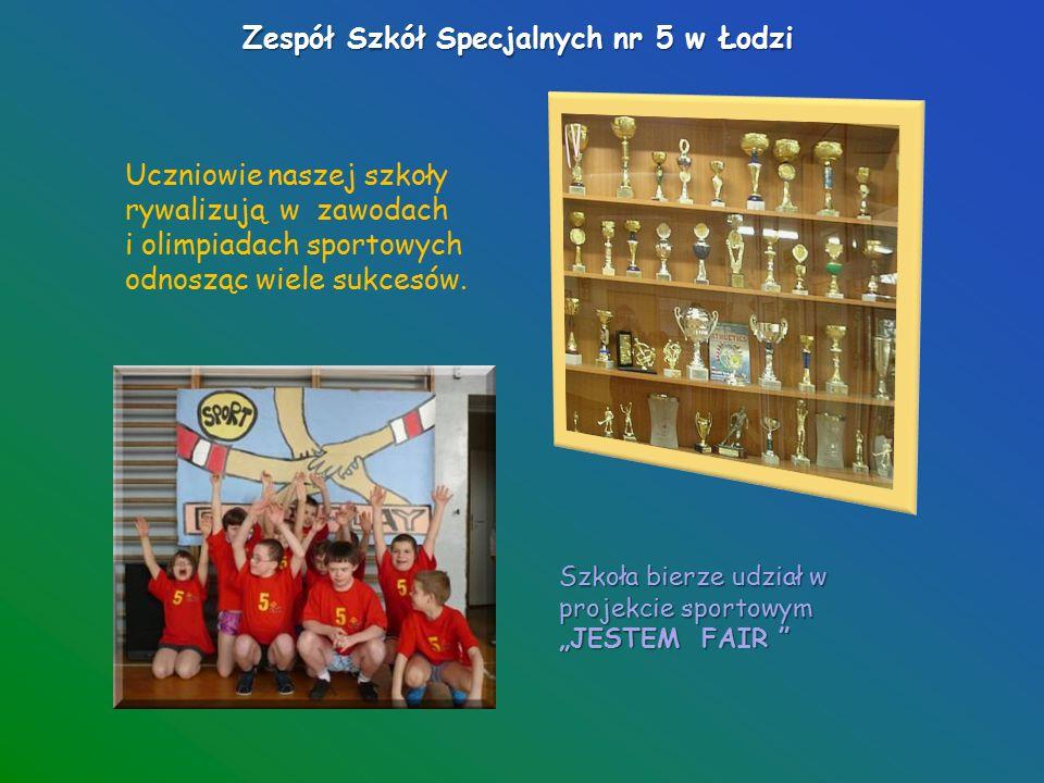 """Zespół Szkół Specjalnych nr 5 w Łodzi To u nas jest Uczniowski Klub Sportowy """"Plantuś ."""
